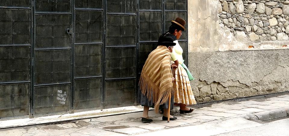 Gamle damer i Bolivia